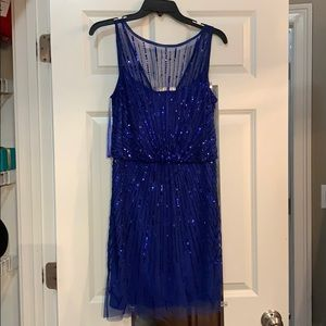 Aidan Mattox Blue Sequence party dress